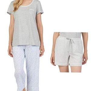 Carole Hochman Women's 3 Piece Pajama Set - Top,